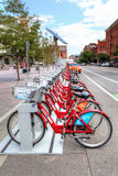 Denver B-Cycle Stand Royalty Free Stock Images