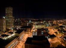 Denver bij Nacht Stock Afbeelding