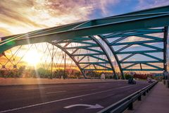 Denver Bridge Traffic Royalty Free Stock Photo