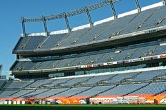 Denver Broncos Stadium. This is a view of Invesco Field, where the Denver Broncos play American Football Royalty Free Stock Photography