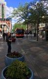 Denver Bus do centro de espera foto de stock