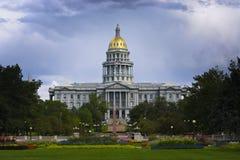 Denver Campidoglio in estate Immagini Stock Libere da Diritti