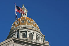 Denver Capitol building dome Royalty Free Stock Photography