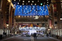 Denver Carrousel na noite fotos de stock royalty free