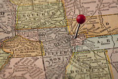 Denver and central Colorado map Royalty Free Stock Photos
