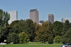 Denver from Cheesman Park Stock Images