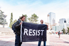 Denver Citizens protest Trump Presidency Royalty Free Stock Photography