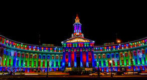 Denver City and County Building illuminated at nig Royalty Free Stock Images