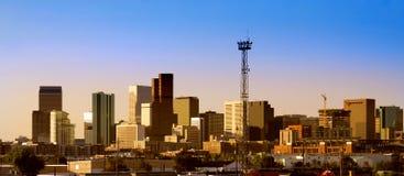 Denver city downtown stock photo