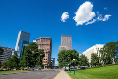 Denver city downtown skyline Royalty Free Stock Photo