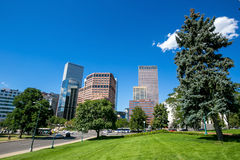 Denver city downtown skyline Royalty Free Stock Images