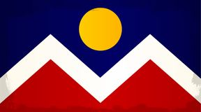 Denver City Flag Images libres de droits