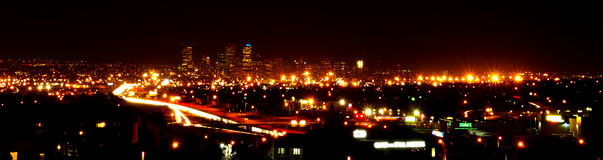 Denver City Lights Stock Photography