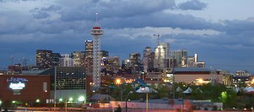 Denver City Lights Royalty Free Stock Photos