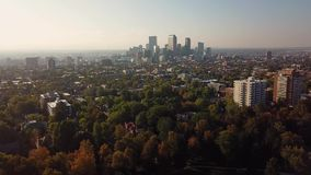 Denver from city park in Colorado, USA stock video