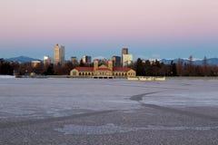 Denver City Park im Winter stockfotografie