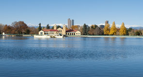 Denver City Park Lake Imagem de Stock Royalty Free