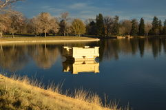Denver city park lake Stock Photo