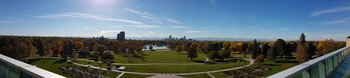 Denver City Skyline. From Denver Museum of Nature & Science, Colorado Royalty Free Stock Photography