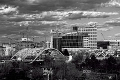 Denver City. View in black and white Stock Photography