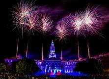 Denver Co 4ème des feux d'artifice de juillet Photo stock