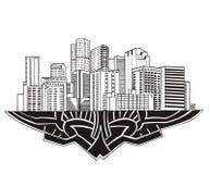 Denver, Co-Skyline Stockbild