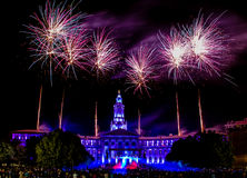 Denver CO 4th of July Fireworks Stock Photo