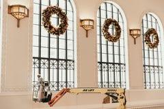 Denver, CO/U.S.A.: Colpi editoriali della stazione ferroviaria del sindacato durante le ferie di Natale fotografia stock