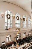 Denver, CO/U.S.A.: Colpi editoriali della stazione ferroviaria del sindacato durante le ferie di Natale fotografie stock libere da diritti