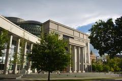 DENVER, CO, usa - Maj 26, 2019: Ralph L Carr Kolorado sprawiedliwości centrum jest domowy Kolorado sąd najwyższy sąd i zdjęcie royalty free