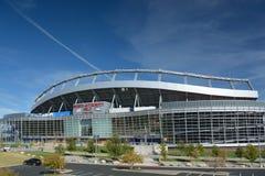 DENVER Co, USA - Oktober 8 2016: Sportmyndighetsfält på Mil Arkivbild
