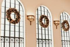 Denver Co/USA: Redaktörs- skott av uniondrevstationen under julsemesterperiod royaltyfria bilder