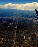 Denver colorado. Airplane view of denver colorado lines Stock Images