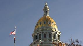 Denver Colorado Capital Building Government-Koepelarchitectuur stock videobeelden