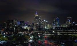 Denver Colorado City Skyline alla notte Fotografia Stock Libera da Diritti