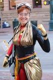 Denver, Colorado, de V.S. - 1 Juli, 2017: Wijfje in kostuum voor Denver Comic Con Royalty-vrije Stock Afbeeldingen