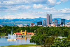 Denver Colorado. Downtown with City Park Stock Photography