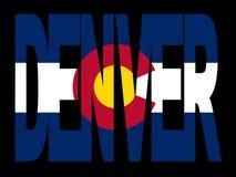 Denver with Colorado flag stock illustration