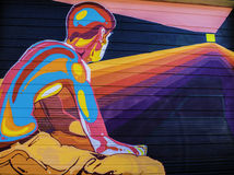 Denver Colorado grafitti arkivbild