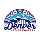 Denver Colorado logo. Vector and illustration. Denver logo design. vector illustration