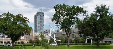 Denver, Colorado, mit einem Spitznamen belegt die Meile-e-hoh Stadt Stockbild