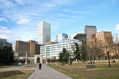 Denver Colorado Skyline Fotografie Stock Libere da Diritti