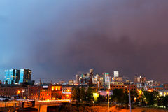 Denver Colorado Skyline at Dusk Stock Photo