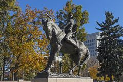 Denver Colorado Statue Royalty Free Stock Photography