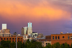 Denver Colorado Sunset Royalty Free Stock Images