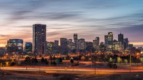Denver Colorado City Skyline Time Lapse stock footage