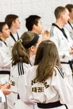 Tae Kwon Do. Denver, Colorado, USA-February 21, 2016. Tae Kwon Do testing for verious degree of black belts Stock Photos