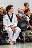 Tae Kwon Do. Denver, Colorado, USA-February 21, 2016. Tae Kwon Do testing for verious degree of black belts Stock Image