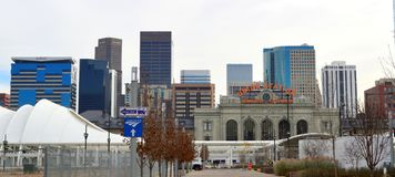 Denver Colorado, USA - November 28, 2014: I stadens centrum Denver royaltyfria bilder