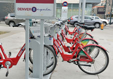 Denver Cycle, a Bicycle share program in Colorado Royalty Free Stock Photography